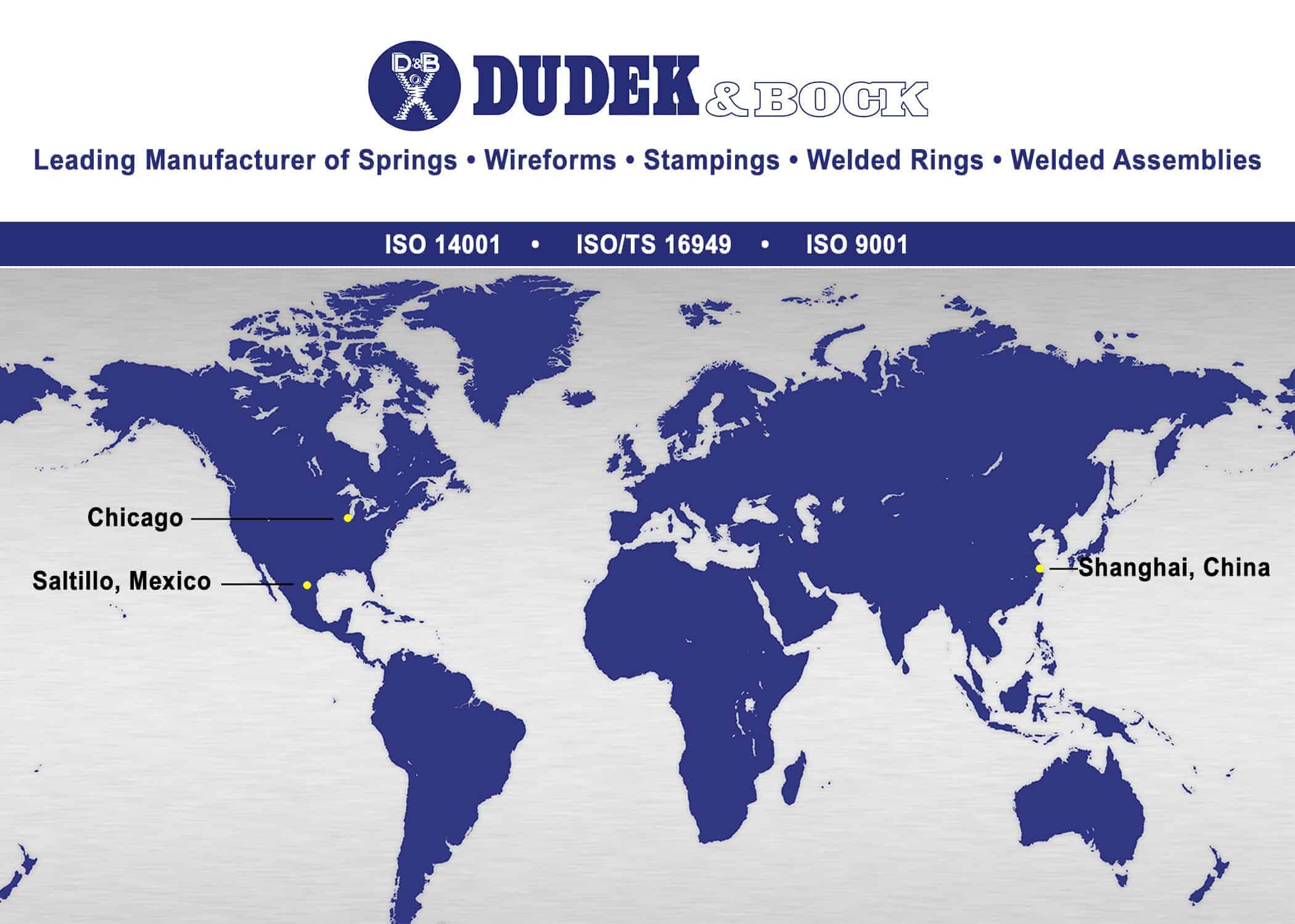 Dudek & Bock  custom springs, wireforms, assemblies